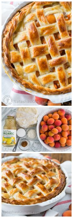 The Best Apricot Pie with Flaky Cream Cheese Crust from @natashaskitchen