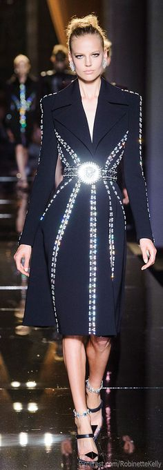 Versace Atelier Haute Couture | F/W 2013. Assuming the belt buckle doesn't always look like a flashlight.......haha
