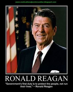 Today's quote of the day is on the duty of government from Ronald Reagan. #politics #quotes