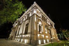 Iluminat exterior muzeul Aman, Bucuresti. Proiect luminotehnic si executie LuceDomotica.  www.lucedomotica.ro
