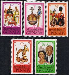 1977 Grenada Grenadines Royal Silver Jubilee Set Fine Mint SG 857 61 Scott 788 92 Other West Indies and British Commonwealth Stamps HERE!