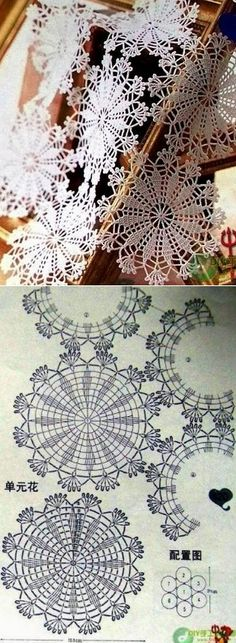 Miniature crochet round doily in white dollhouse by MiniGio Crochet Circles, Crochet Doily Patterns, Crochet Mandala, Crochet Diagram, Crochet Round, Crochet Squares, Crochet Home, Thread Crochet, Filet Crochet