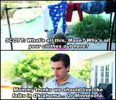 I thought this was funny & big slap in the face to Kris Humphries...who I can't STAND, so I loved Scott. He'd be my favorite asshole brother-in-law for SURE after that little remark. love the sarcasm.