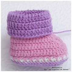Tutorial #T84: Cómo tejer botitas de bebé - Paso a Paso ~ CTejidas [Crochet y Dos Agujas]