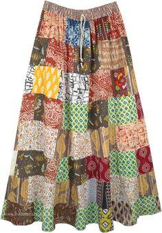 Bohemian Maxi Skirt, Hippie Skirts, Broomstick Skirt, Skirts For Kids, Handmade Skirts, Patchwork Designs, Tiered Skirts, Patchwork Dress, Crazy Patchwork