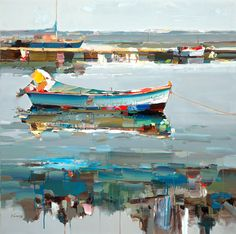 "Josef Kote ""Old Summertime"" 48x48 Original Acrylic on Canvas"