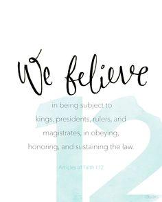 Article of Faith 1:12 #Faith