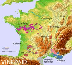 Animated Relief Map Of Wine Regions In France