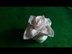 Servietten falten Rose / Blüte / Blume - Einfache DIY Tischdeko basteln: Weihnachten, Hochzeit - YouTube