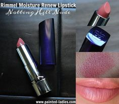 Rimmel Moisture Renew Lipstick in Notting Hill Nude #lippies #bblogger #review #paintedladies - bellashoot.com