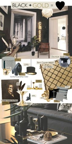 Black & gold interior ideas