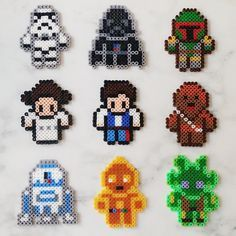 Star Wars characters perler beads by greybear - just a picture Perler Beads, Perler Bead Art, Fuse Beads, Hama Beads Pokemon, Melty Bead Patterns, Pearler Bead Patterns, Perler Patterns, Beading Patterns, Peyote Patterns