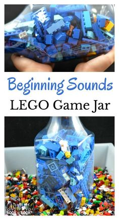 Identify beginning sound with this Lego Gam Jar. It's a super easy activity to prepare and play.