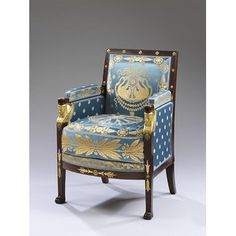 Empire style armchair by Jacob-Desmalter, 1805. V&A Museum. This armchair was part of the furniture set made for Maréchal Ney -