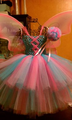 Abby Cadabby Tutu Dress with wings and Wand (Dress and Wand made by me; Wings not)