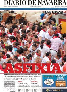 Los Titulares y Portadas de Noticias Destacadas Españolas del 14 de Julio de 2013 del Diario de Navarra ¿Que le parecio esta Portada de este Diario Español?