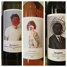 """Some what weird #wine label #packaging. Reminds me of the """"Son Of Man"""" by Rene Magritte PD"""