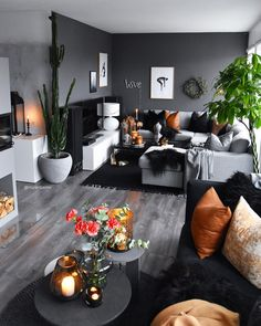 51 Affordable Apartment Living Room Design Ideas On A Budget GentileForda. Living Room Decor Cozy, Living Room Grey, Home Living Room, Apartment Living, Living Room Designs, Bedroom Decor, Black White And Grey Living Room, Budget Living Rooms, Monochromatic Living Room