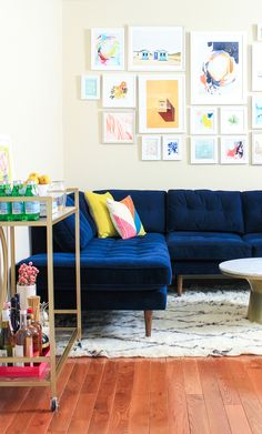 A Philadelphia Living Room Gets A Colorful Revamp - Front + Main