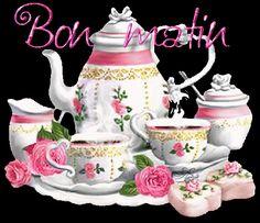 ( immagini e poesie ) - CheLaVitaContinua Gif Café, Gifs, Good Morning, Tea Party, Prints, Gabriel, Tea Time, Angel, Messages