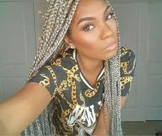 Image result for gray box braids