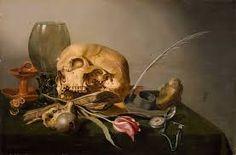 Pieter Claesz - Vanitas, c. 1630 Oil on panel (oak) Dutch Still Life, Still Life Art, Vanitas Paintings, Skull Reference, Vanitas Vanitatum, Dance Of Death, Still Life Flowers, Dutch Golden Age, Baroque