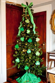 Why would you take down your Christmas tree in March? It's green! And, as such, looks great with shamrocks. See more at Sassy Mouth »   - GoodHousekeeping.com