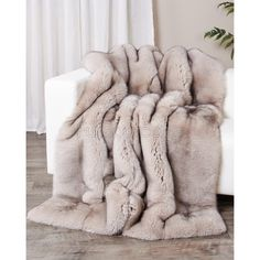 Shop FurSource for the best selection of Premium Full Pelt Fur Blankets. Buy Custom Full Pelt Silver Fox Fur Blanket / Fur Throw by FRR with fast same day shipping. Faux Fur Blanket, Faux Fur Throw, Fur Bedding, Master Bedroom Design, Dream Bedroom, Cabin Interiors, Fox Fur, Soft Furnishings, Apartment Layout