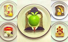 Tableaux célèbres en Food Art