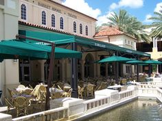 Il Bellagio's patio, overlooking the @CityPlace plaza