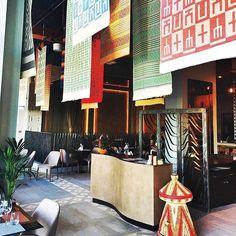 "RepostBy @minnahe: ""Loving the interior of Ethiopian restaurant Gursha at Club Vista Mare at Palm Jumeirah Dubai. Modern style with Ethiopian vibes Authentic Ethiopian food. @gurshadubai #ethiopianfood #ethiopia #unitedarabemirates #dubai #uaebloggers Travel Ethiopia without leaving Dubai #interior #dubairestaurant #dubaifoodie @clubvmare"""
