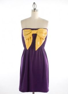 The Saved By The Bow Dress in Purple & Gold #gameday