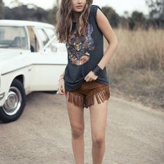 Cowgirl Dreams Tassel Shorts