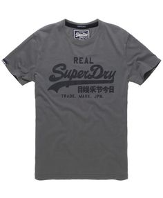 c6b8738e Men's Superdry Vintage t-shirt, with cracked classic chest print and sleeve  logo tab