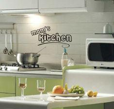 deko ideen küche wamdtattoo gelbe akzente   wandgestaltung ... - Deko Für Küchenwände