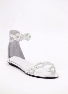441face57ff9 Shoes for the wedding  Maybe I wouldnt be taller than the guy Im walking  with. Silver Wedding Shoes flat with rhinestones (Style