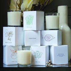 "If you don't like the fake scents in most candles, try ""Basics"" Candles by Canvas. 100% organic soy candles with natural-based essential oils."