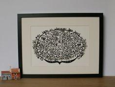 My Home papercut, new home, housewarming, wedding gift, botanic, key, leaves