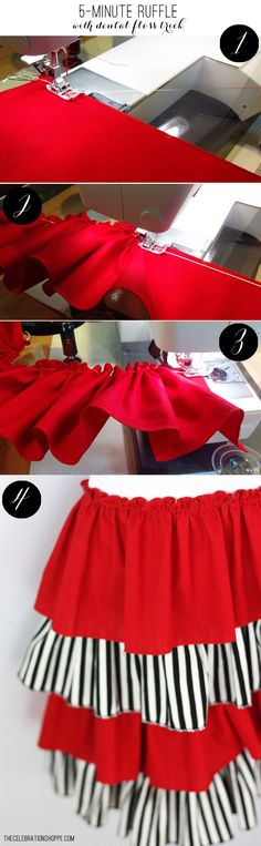 DIY Easy Sew 5 Minute Ruffle Apron Tutorial