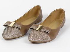 BALLET FLATS- Khaki/gold  | eBay