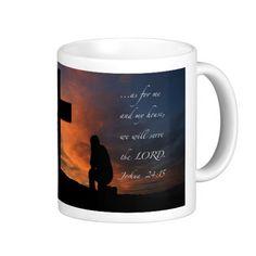 """My House"" -Joshua 24:15 Classic White Coffee Mug"