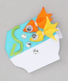 Look at this Picki Nicki Hair Bowtique Blue Fishbowl Clip on #zulily today!