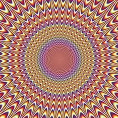 Op Art is short for Optical Art. This art form was meant to create optical illusions, such a movement, through the juxtaposition of different shapes and colors. This art form influenced fashion during the as well. Eye Tricks, Mind Tricks, Art Optical, Illusion Art, Wow Art, Arte Pop, Art Plastique, Fractal Art, Fractal Images