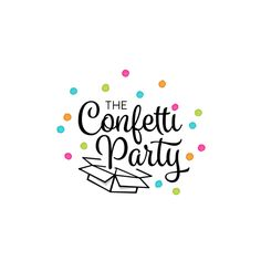 THE CONFETTI PARTY needs a chic girly logo! by B2 designs