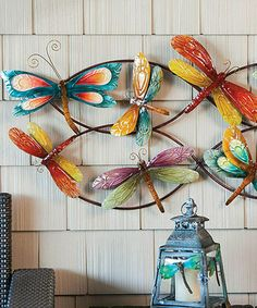 Take a look at this Blue & Yellow Dragonfly Metal Wall Art by Evergreen on #zulily today!