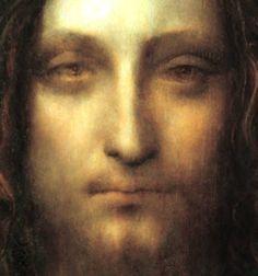 Salvator Mundi detail, are the eyes crossed or is the cast in one eye? Caravaggio, Italian Renaissance, Renaissance Art, Michelangelo, Salvator Mundi Leonardo, Italian Painters, Art For Art Sake, Sacred Art, Religious Art