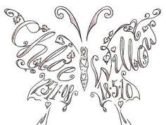 Butterfly Shape Sketch