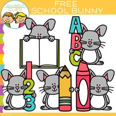 Free School Bunny Clip Art This free school bunny set includes a bunny with letters, numbers, crayon, pencil and an open book. All images are png. You will receive: 5 color png images 5 black & white png images Cute Clipart, Flower Clipart, Free Watercolor Flowers, Letter To Parents, Parent Letters, Heart Clip Art, Funky Fonts, School Clipart, Posters