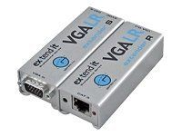 Gefen EXT-VGA-141LR VGA Extender LR by Gefen. $207.01. The Gefen VGA Extender LR allows users to extend video signals beyond the A/V rack. The VGA Extender Series can be used to extend an analog signal to cover distances up to 330 feet. Industry standard Category 5e (CAT-5e) cable is used for the extension. The VGA Extender LR sender unit connects to your source using the supplied cable. The receiver unit connects to your display - up to 330 feet away. One CAT-5...