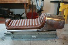 Image result for upholstery onto steel cafe racer